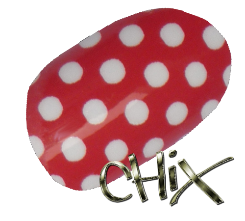White On Red Polka Dot