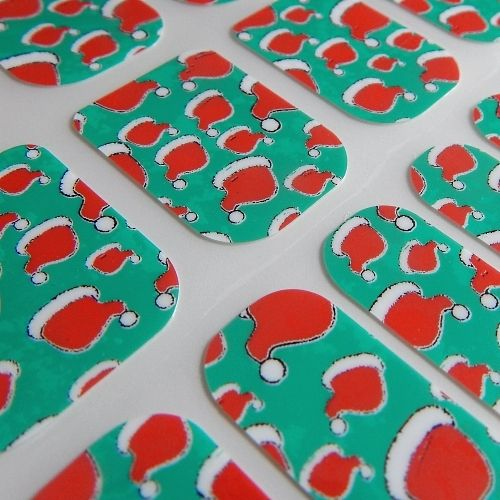 Green Red Santa Hats