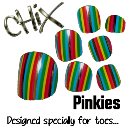 Pinkies Rainbow Stripes