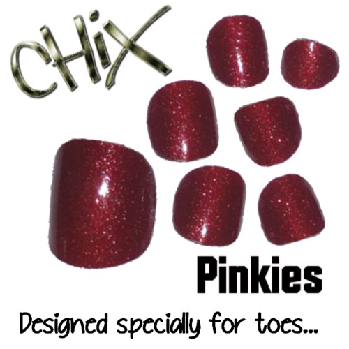 Pinkies Red Glitter