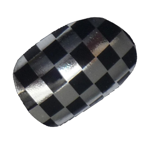 Black Silver Checkers