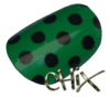 Black On Green Polka Dot