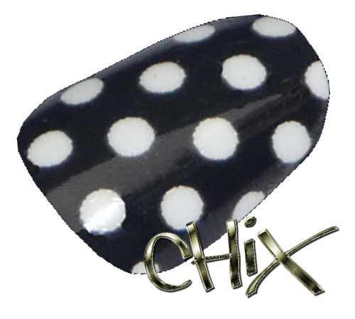 White On Black Polka Dot